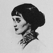 Anna Akhmatova 1914 by Savely Sorin