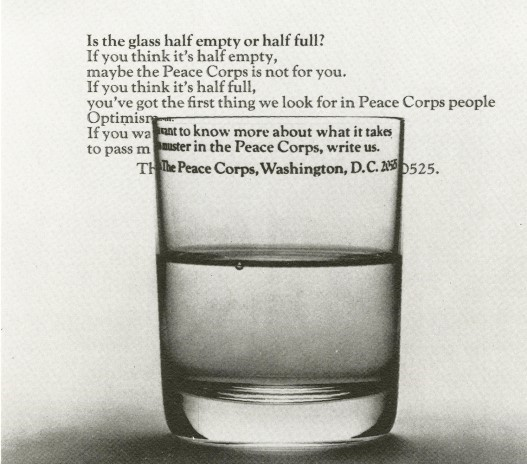 Newspaper advertisement for the Peace Corps in 1968