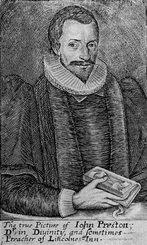 Engraving of John Preston, born 1587, died 1628, aged 40