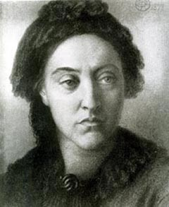 Portrait of Christina Rossetti, 1877, by Dante Gabriel Rossetti